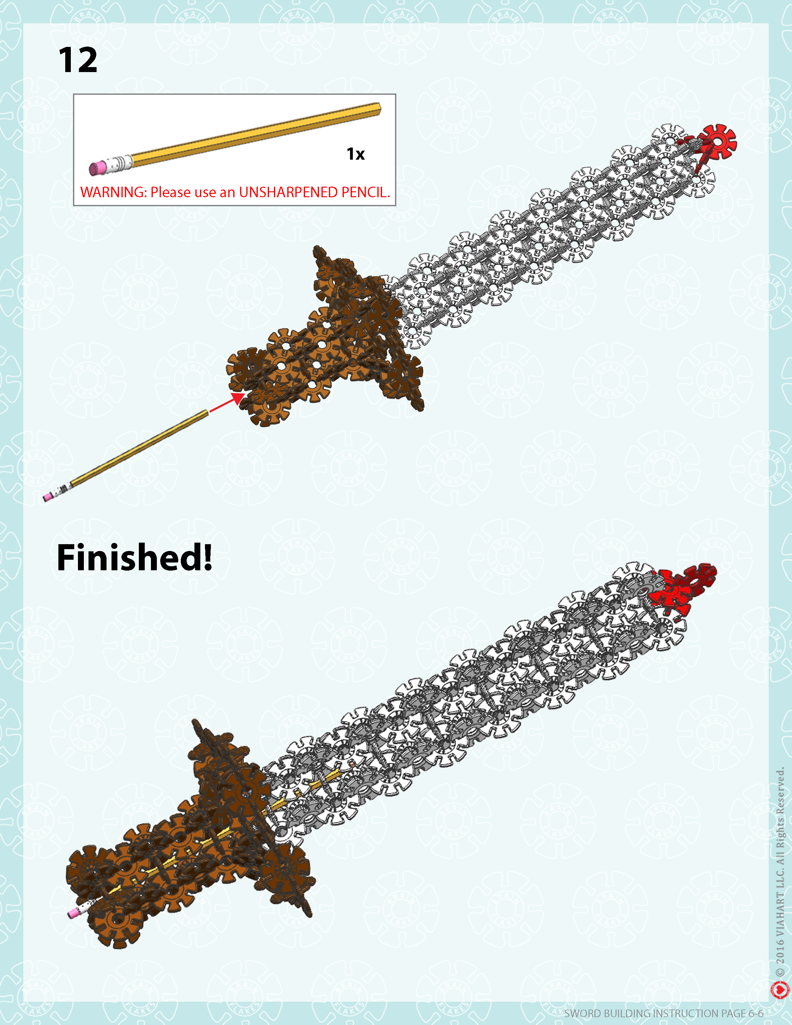 Brain Flakes Sword Instructions Page 6