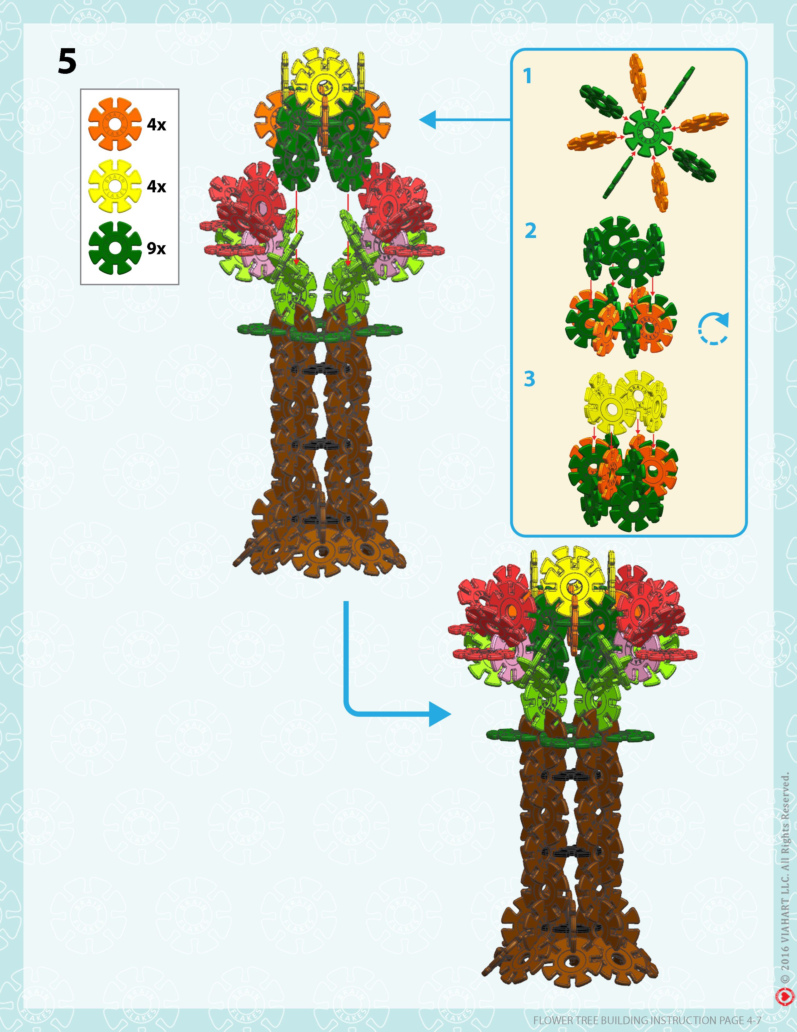 Brain Flakes Flower Tree Instrucions Page 4